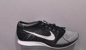 Detalles de Nike Flyknit Racer 526628 002 negro negro blanco para hombre  Talla 11- ver título original