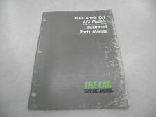 Arctic Cat 1986 AFS Models Snowmobile Illustrated Parts Manual