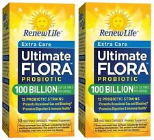 2 Ultimate Flora Extra Care 100 Billion Ultra Probiotic 30 Caps exp 03/2018