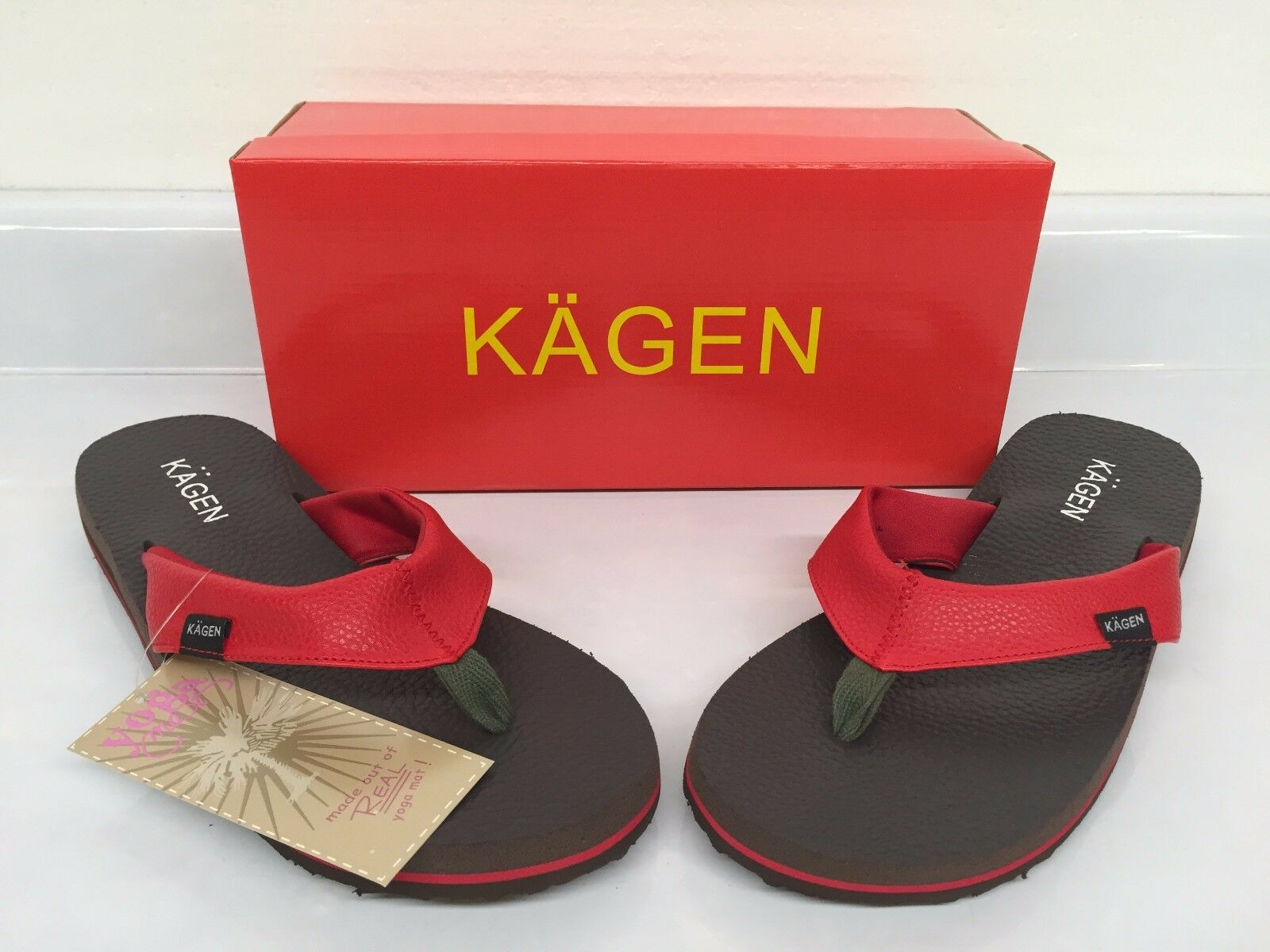 Kagen® Yoga Mat Size Thong Sandals - Red; Size Mat 11 025805