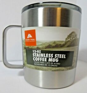 NEW-12oz-Stainless-Steel-Coffee-Mug-Camping-Hiking-Insulated-Cup-Lid-Ozark-Trail