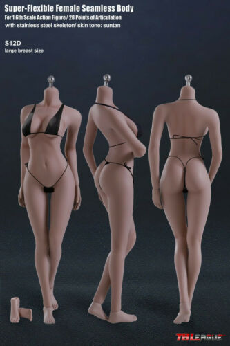 """TBLeague Phicen 1//6 Flexible Female Seamless Action Body Figure Doll 12/"""" PH Toy"""