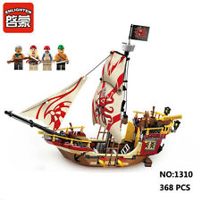 Enlighten Pirates Caribbean Predator Ship DIY Building Block Toys Compatible