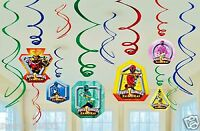 Power Rangers Samurai Swirl Ceiling Hanging Decorations