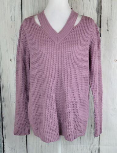 a a scollo con M viola Pullover maglione Pullover V di Iot alto collo z1zwqWXvF