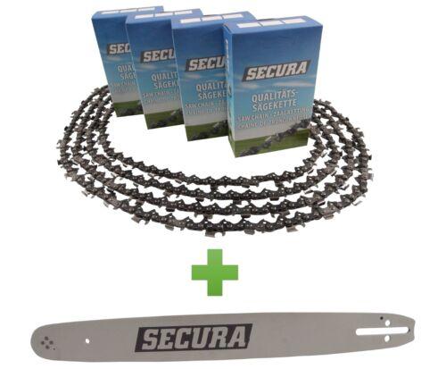 4 Sägeketten Schwert passend Top-Craft KSI2100-30cm 3//8LP 45TG 1,3mm