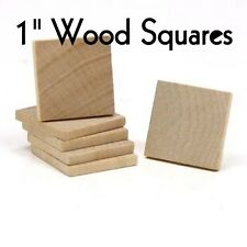"""SQUARE ~ 1"""" ~ Wood Cutout Craft Shape ~ Unfinished { Lot of 25 } ~ by PLD"""