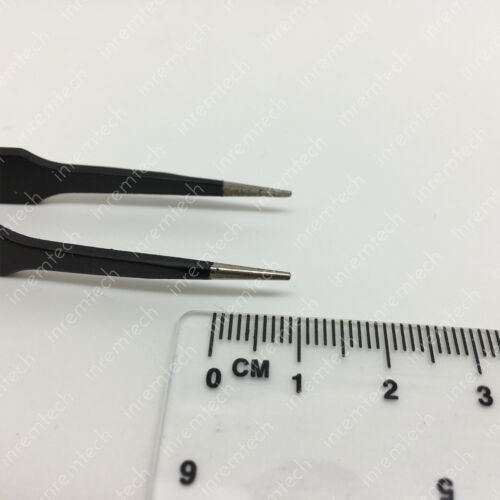 ESD-14 Stainless Steel Precision Tweezers for PCB Repairs Retail Packaged