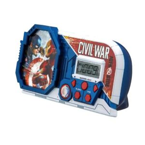 Marvel-Civil-War-Night-Glow-Alarm-Clock-Captain-America-Iron-Man-Avengers-New