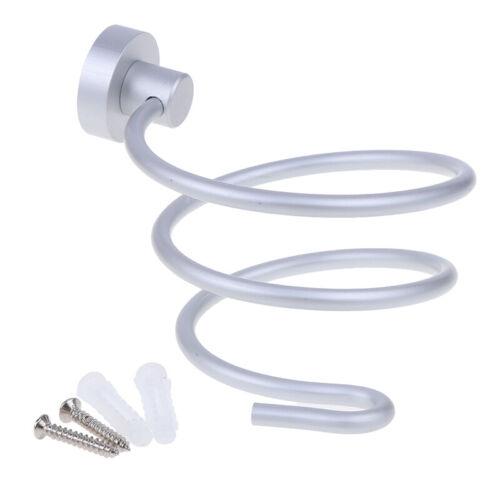 Haartrocknerhalterung Wohnaccessoir`tW0HWC Wand-Badhalterung Aluminium