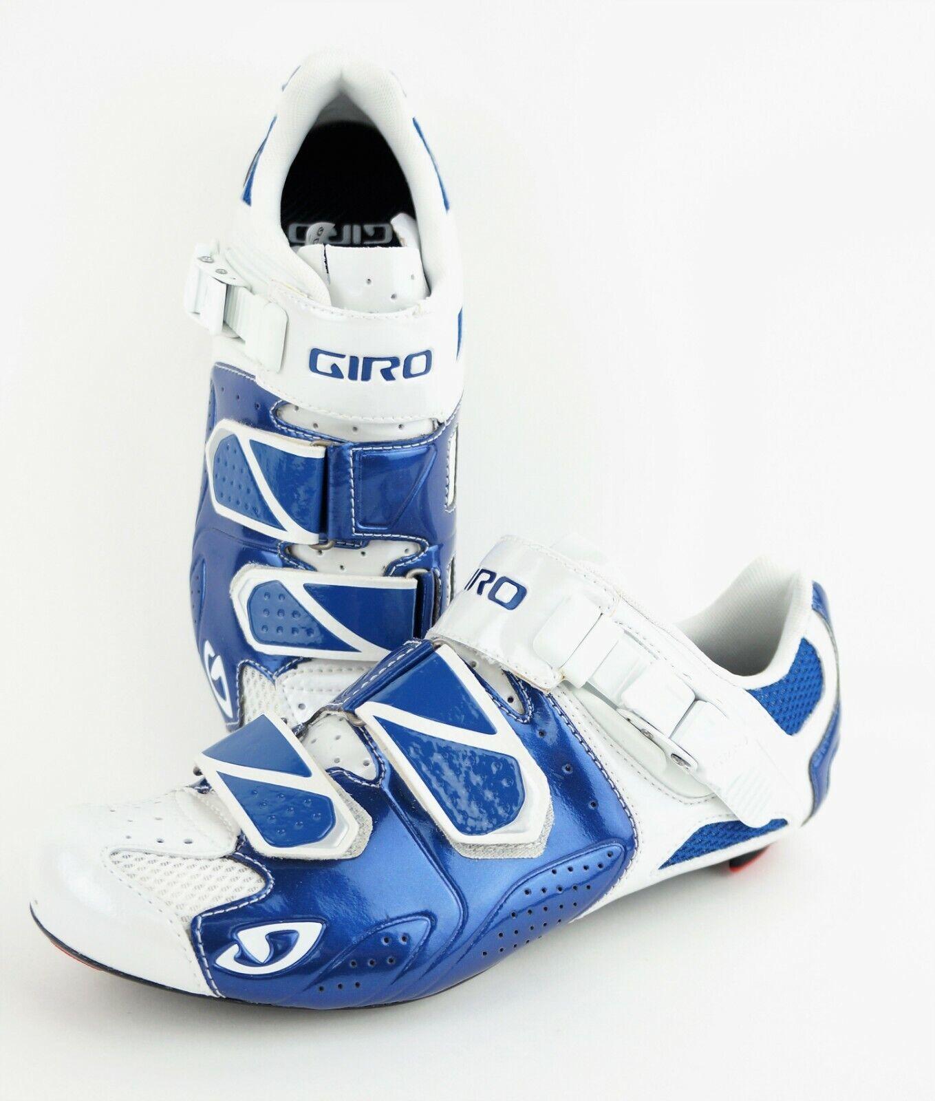 GIRO Trans Herren US 6.75 Blau Weiß Radfahren schuhe  180 MSRP