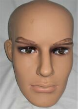 New Listingmale Mannequin Head Male Realistic Head Attachment For Mannequins St 1