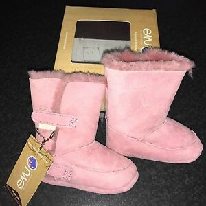 Emu Baby Bootie Hi Pink Age 12 18 Months New With Tags And Box ... 18b5427d3