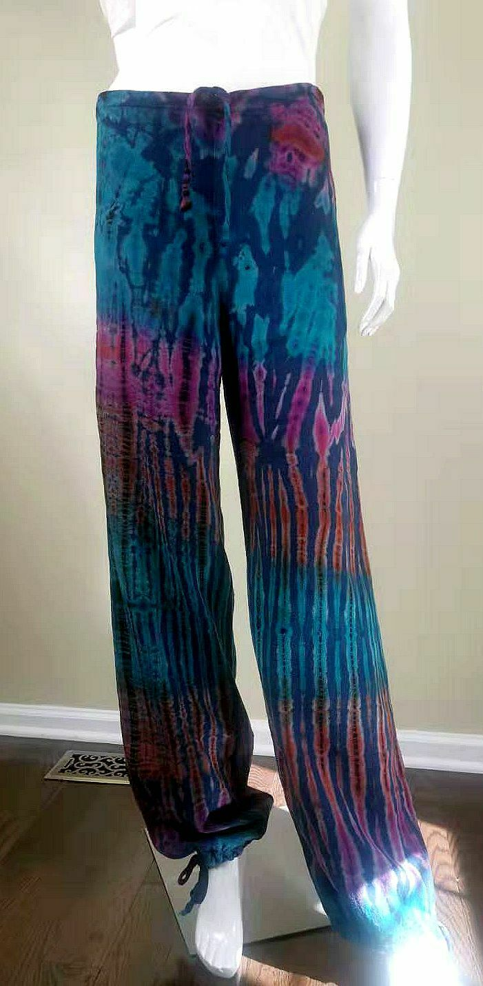 Unbranded Color-Painted Cotton/Linen Casual Pants… - image 3