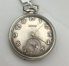 VERY RARE-LONGINES-SWISS POCKET WATCH 15J, 3 ADJ, 14 kw gold filled correct time