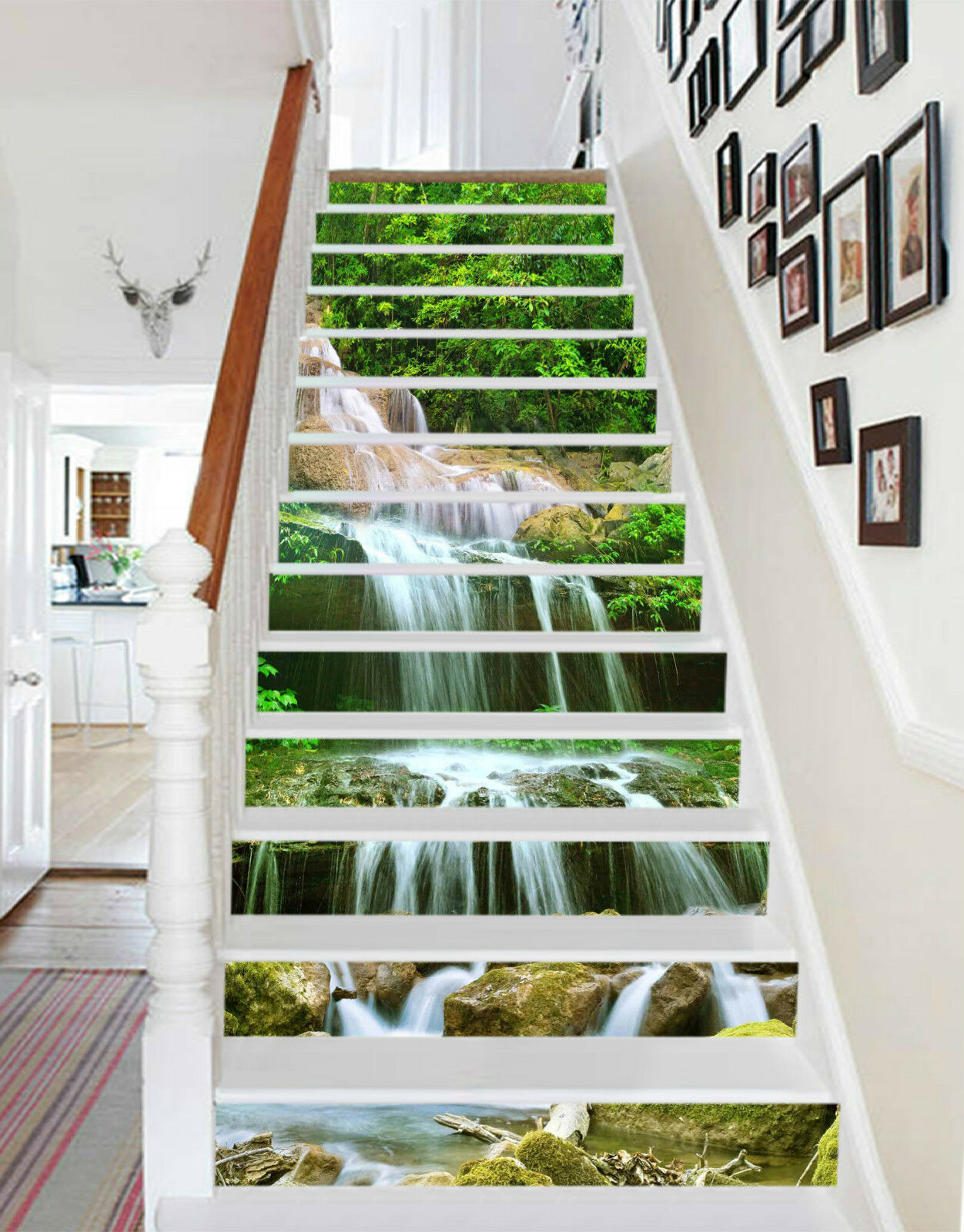 3D Baum Fluss 6482 Stair Risers Dekoration Fototapete Vinyl Aufkleber Tapete DE