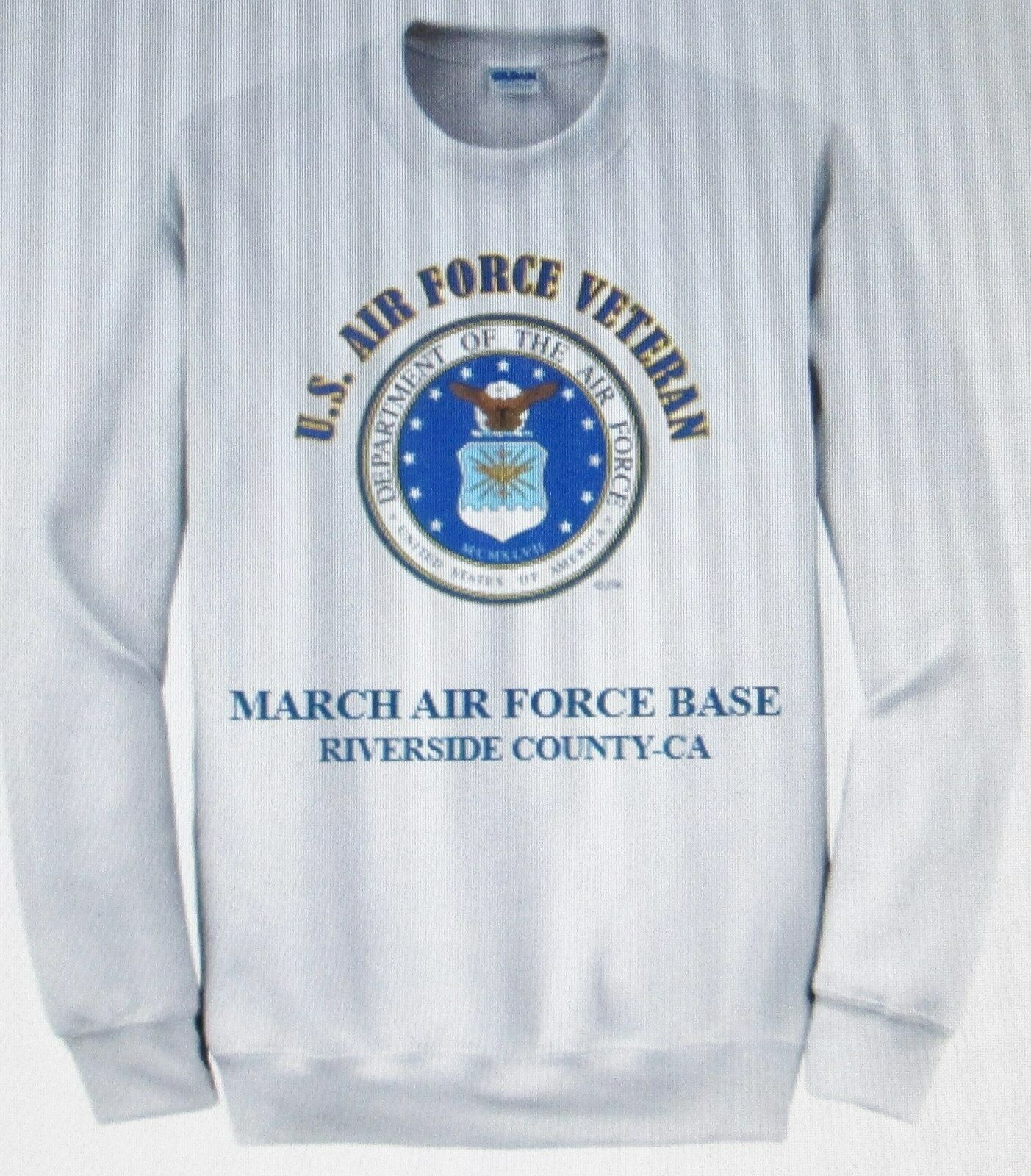 MARCH AIR FORCE BASE RIVERSIDE COUNTY-CA U.S. AIR FORCE EMBLEM SWEATSHIRT