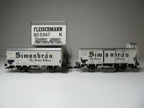 204HO Bierwagen Set Simonbräu DB Fleischmann H0 80 5347 K Top in OVP