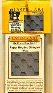 NIB-O-Branchline-Laser-Art-945-Paper-Shingles-Mosaic-Style-2-Sheets