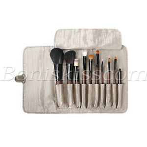 10pcs-Wooden-Handle-Natural-Wool-Foundation-Brush-Eye-Makeup-Brushes-With-Bag