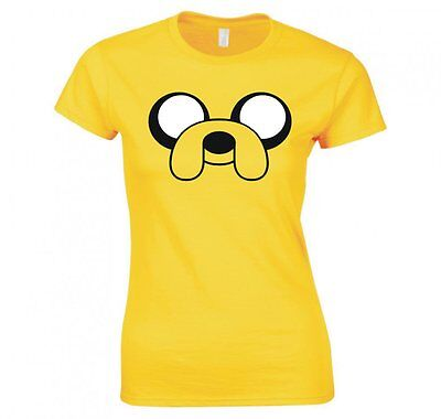 "ADVENTURE TIME ""JAKE THE DOG, FACE"" LADIES T-SHIRT NEW"