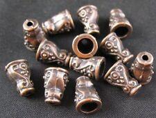 80PCS Antiqued copper ornate spiral cone bead caps FC320C