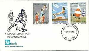 BASKETBALL-ROWING-YATCHING-PANAMERICAN-GAMES-FDC-COVER-BRAZIL-1987