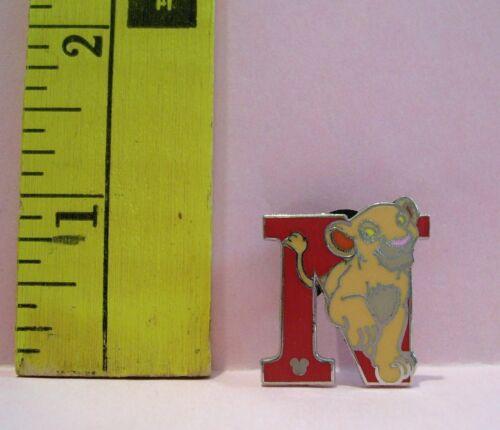 Walt Disney ALPHABET LETTER N FOR NALA THE LION KING HIDDEN MICKEY TRADING PIN
