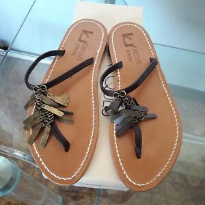 nieuw Mod Slippers Schoenen 39 K Sandalen jacques St tropez Col Tg Bruin Congo q7ZgrqH