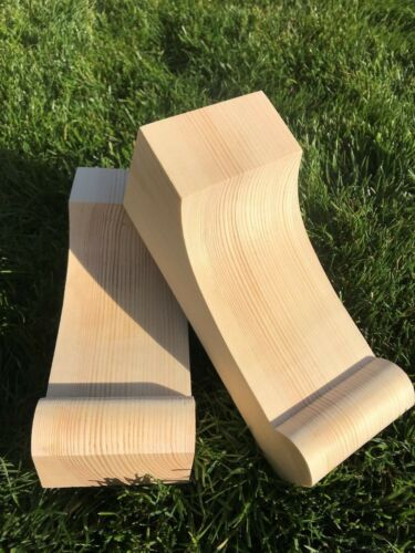 Wooden Corbels solid pine style P Shelf Brackets 1 pair