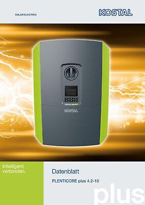 Generous Pv Solar Hybrid Wechselrichter Kostal Plenticore Plus 4.2 Photovoltaik-zubehör Heimwerker