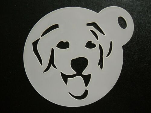 60mm labrador design cake craft /& face painting stencil cookie
