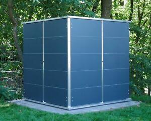Details zu Design-Gartenhaus Gartenschrank Gerätehaus modern klein Metall  Flachdach Cube