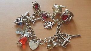 Image Is Loading Vintage Irish Sterling 925 Silver Charm Bracelet W