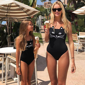 fa69d657e4 Details about Mommy Me Swimsuit Mother Daughter Girl One-piece Swimwear  Beachwear Bathing Suit