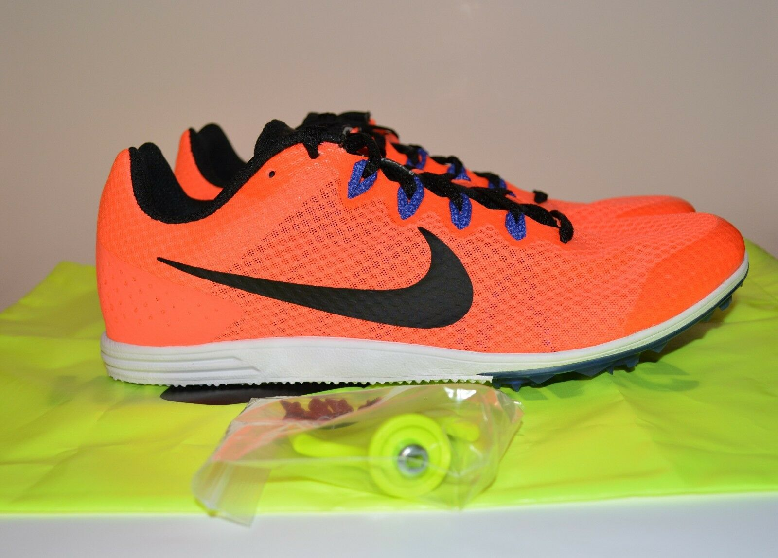 Nike Men's Zoom Rival D 9 Distance Track Spikes Orange Price reduction 806556 804