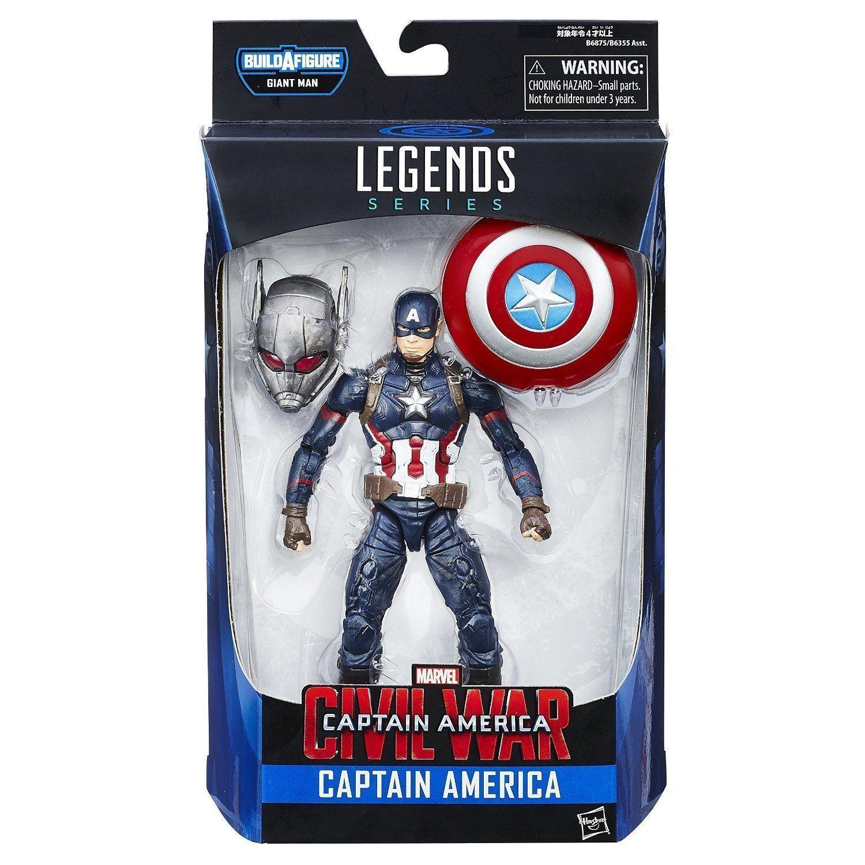 Marvel Legends-capitán América Figura De Acción - 2 de onda de la guerra civil