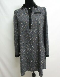 I-Heart-Ronson-Dress-Juniors-size-XS-Dark-Gray-Floral-Long-Sleeve