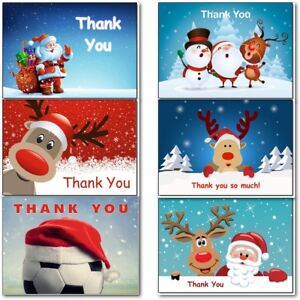 Christmas-Thank-You-Thankyou-Cards-Postcards-Notes-Pads-Pack-of-20-Childrens