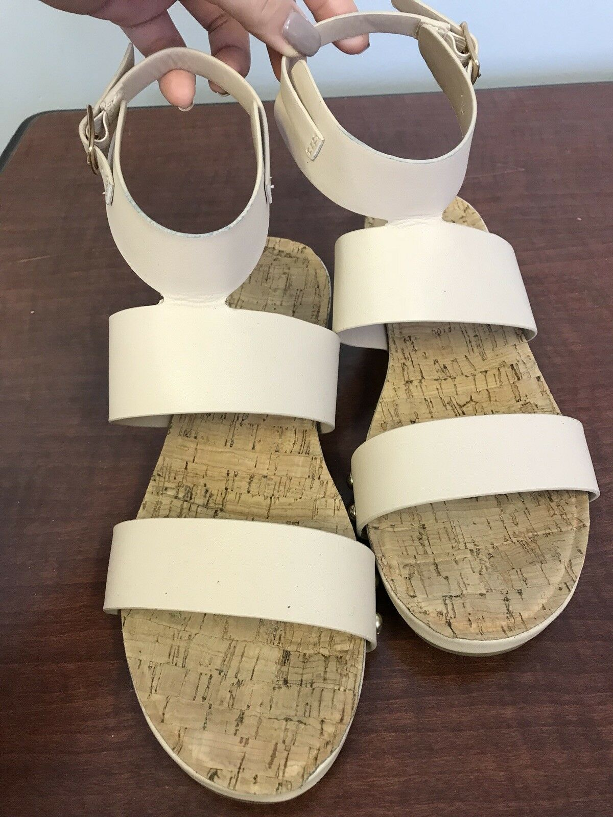 Nude Size Sandal With Ankle Straps Size Nude 6.5 60f236