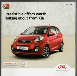 Kia Special Offers >> Details About Kia Special Offers Jan Mar 2013 Uk Market Brochure Picanto Soul Cee D Sportage