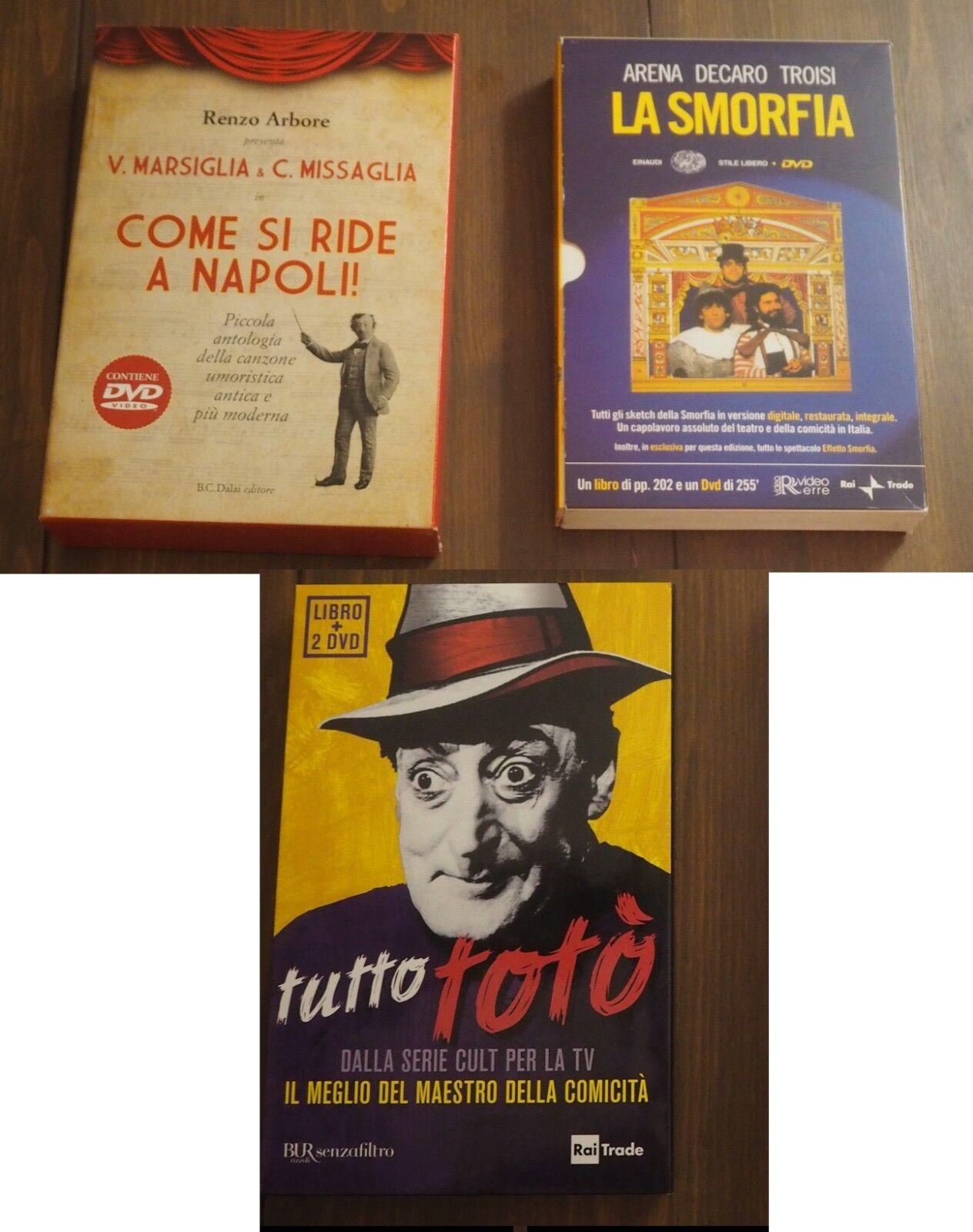 Cofanetti DVD libro La Smorfia,Tutto Totò,Come si ride a Napoli #eBayDonaPerTe