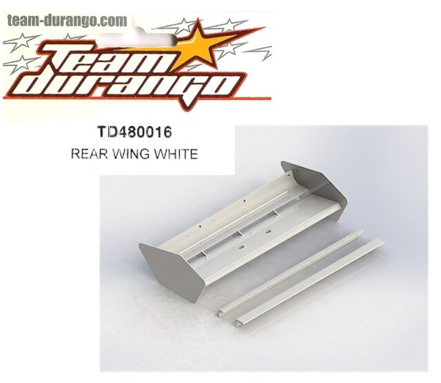 RC Team Durango TD480016 Rear Wing White DEX8 DEX8T DNX8 1/8 Buggy Truggy NEW