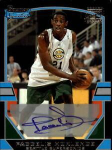 2003-04 Bowman Signature Edition Basketball Card #116 Paccelis Morlende