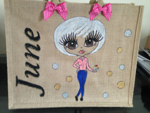 Glambag Personalised jute Bags Any Design Created Hand Painted