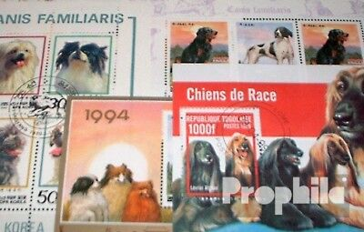 Motives 10 Different Dogs Blocks Dogs-blocks 10 Stamps