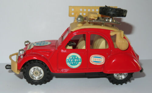 B mc toy macau made 1979 citroen 2cv raid Afrique friction air 1//38 110mm #8245