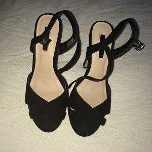 d64e26fc6de Details about Black Primark Heels Size 6