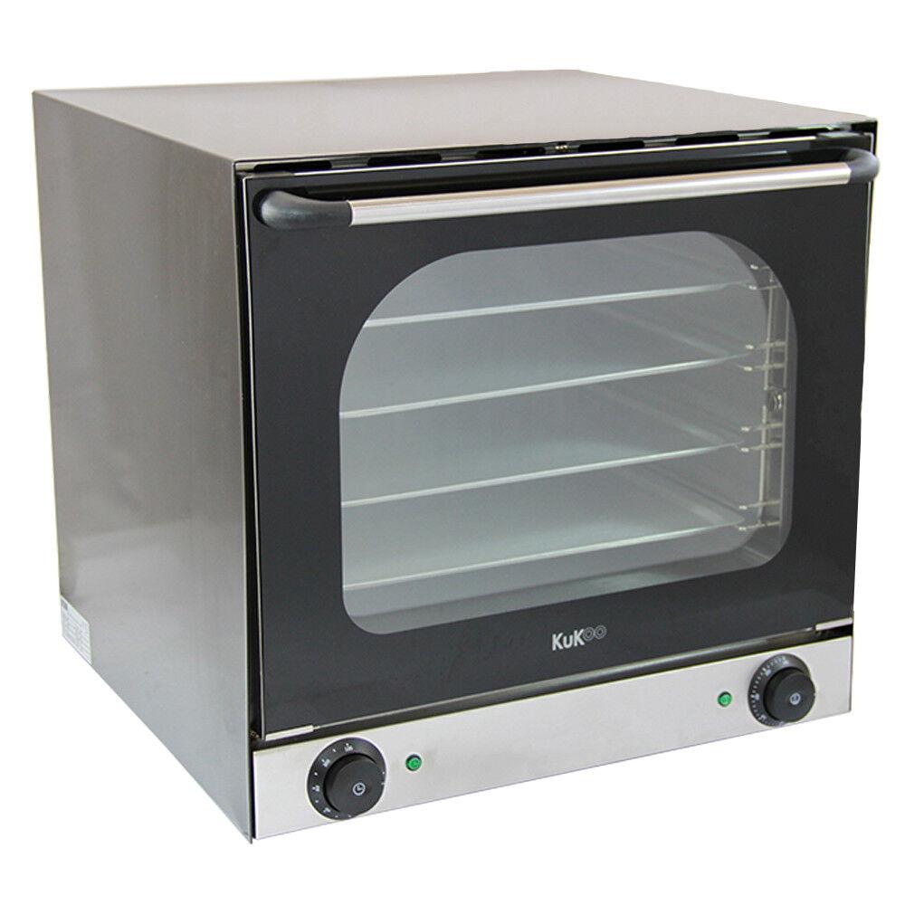 Forno a Convezione Elettrico da Cucina Commerciale con Doppia Ventola 300°C