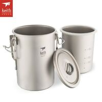 Multipurpose Titanium Pot Lightweight Camping Hiking Nonstick Rice Cooker Ti6300